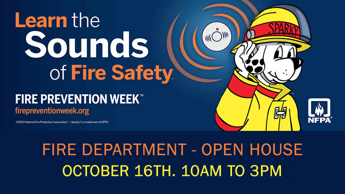 Fire Prevention Week October 4th thru October 10th.