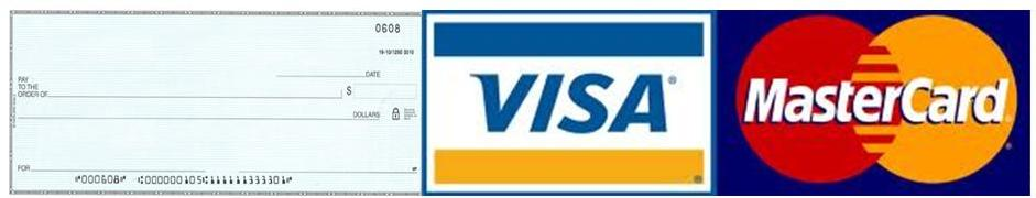 Image result for we accept visa mastercard cheque