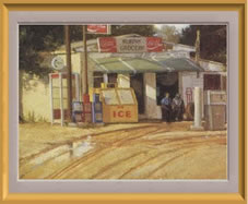 Painting of the old Murphy Grocery Store on the NE corner of Murphy Road and FM 544