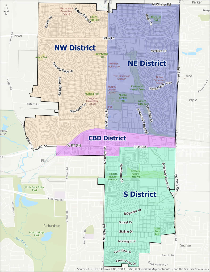 PD District Map