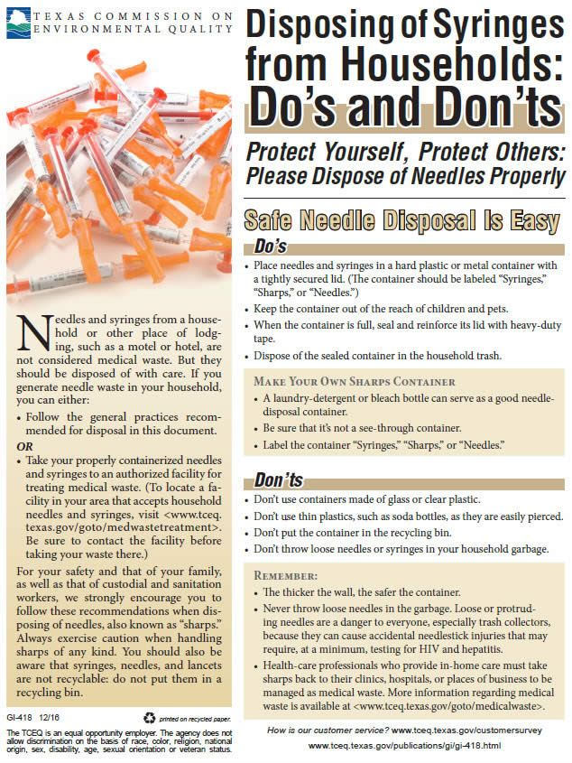 Services for Medical Sharps & Needle Disposal Opens in new window