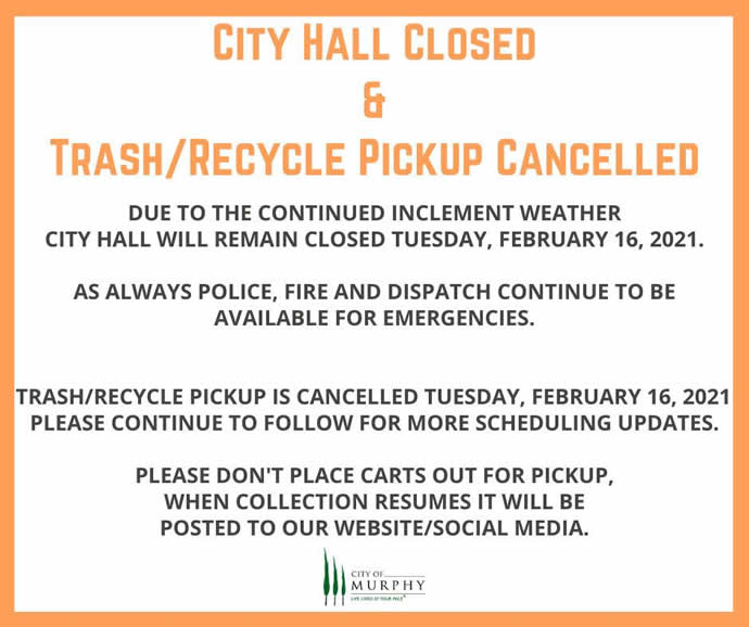 Tuesday Closures